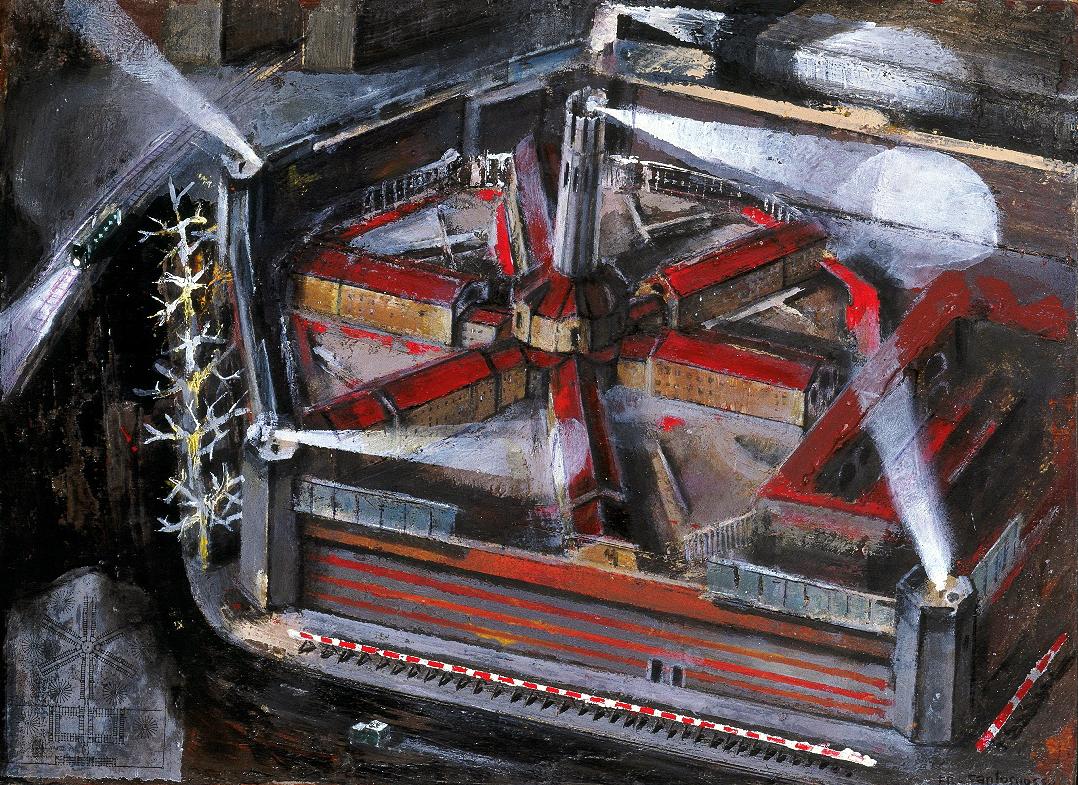 19 San Vittore,2003,acrilico su tavola