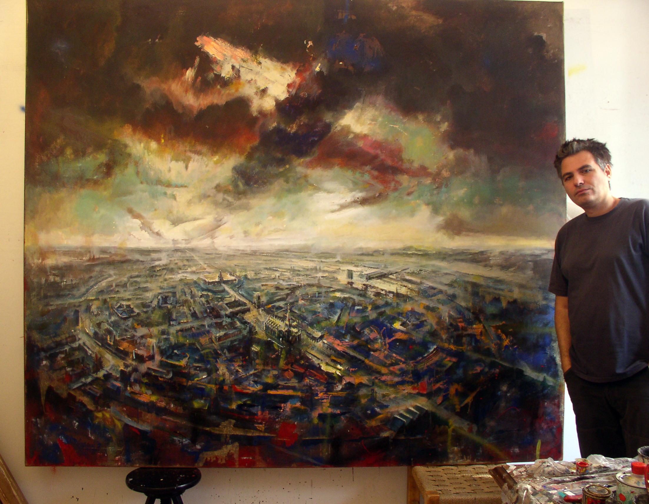 MILANO BLU -olio su tela- 200x230 2003
