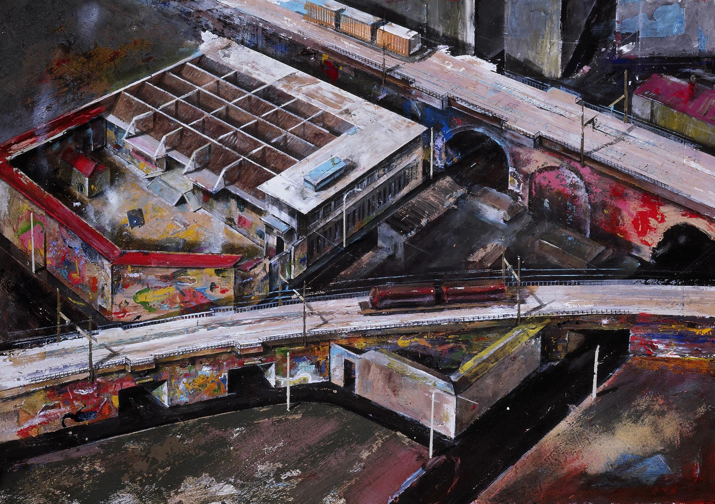 LEONCAVALLO. olio acrilico su tavola 2003