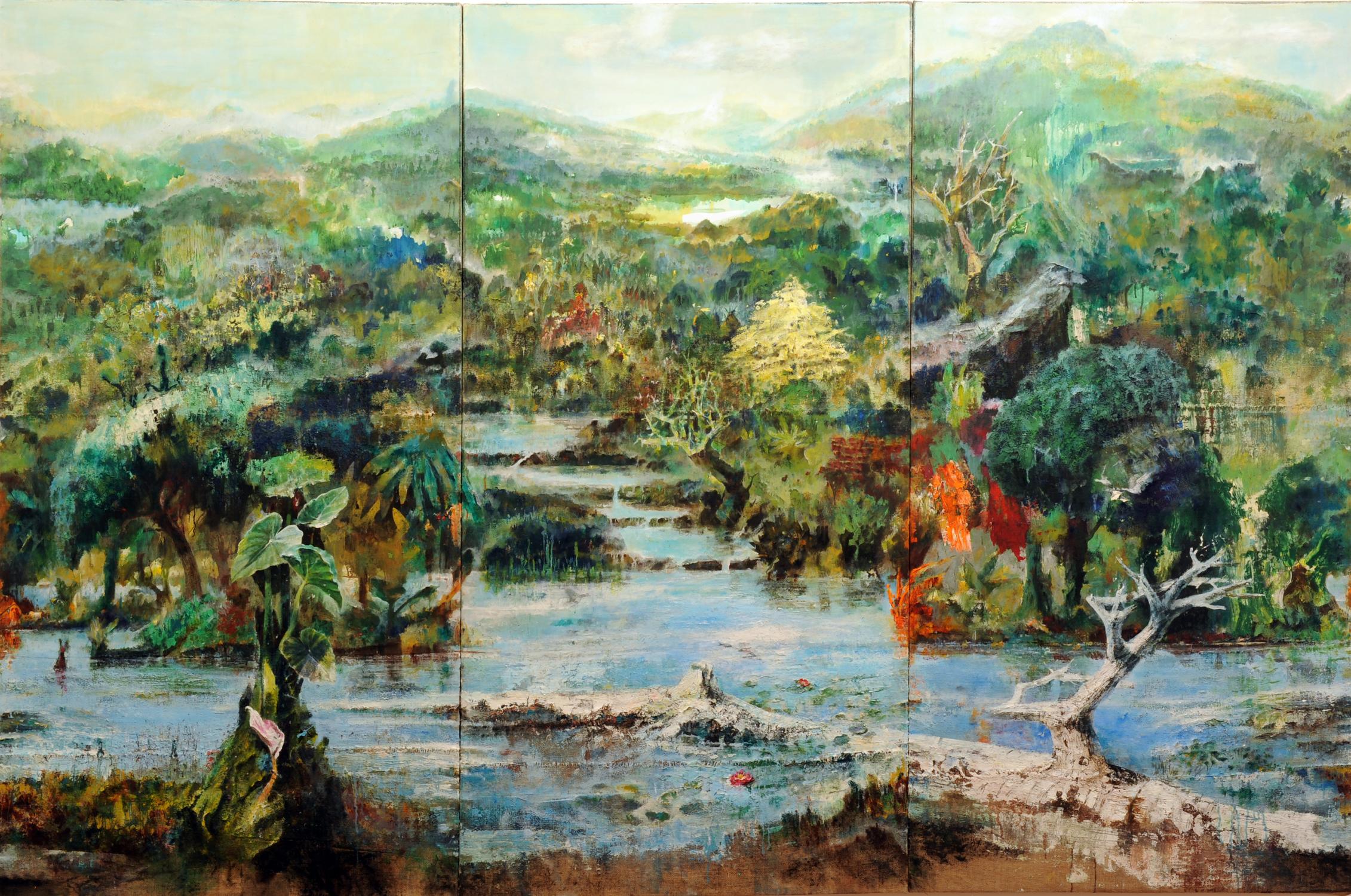SUPERNATURA. .trittico 200x300 cm- 2017