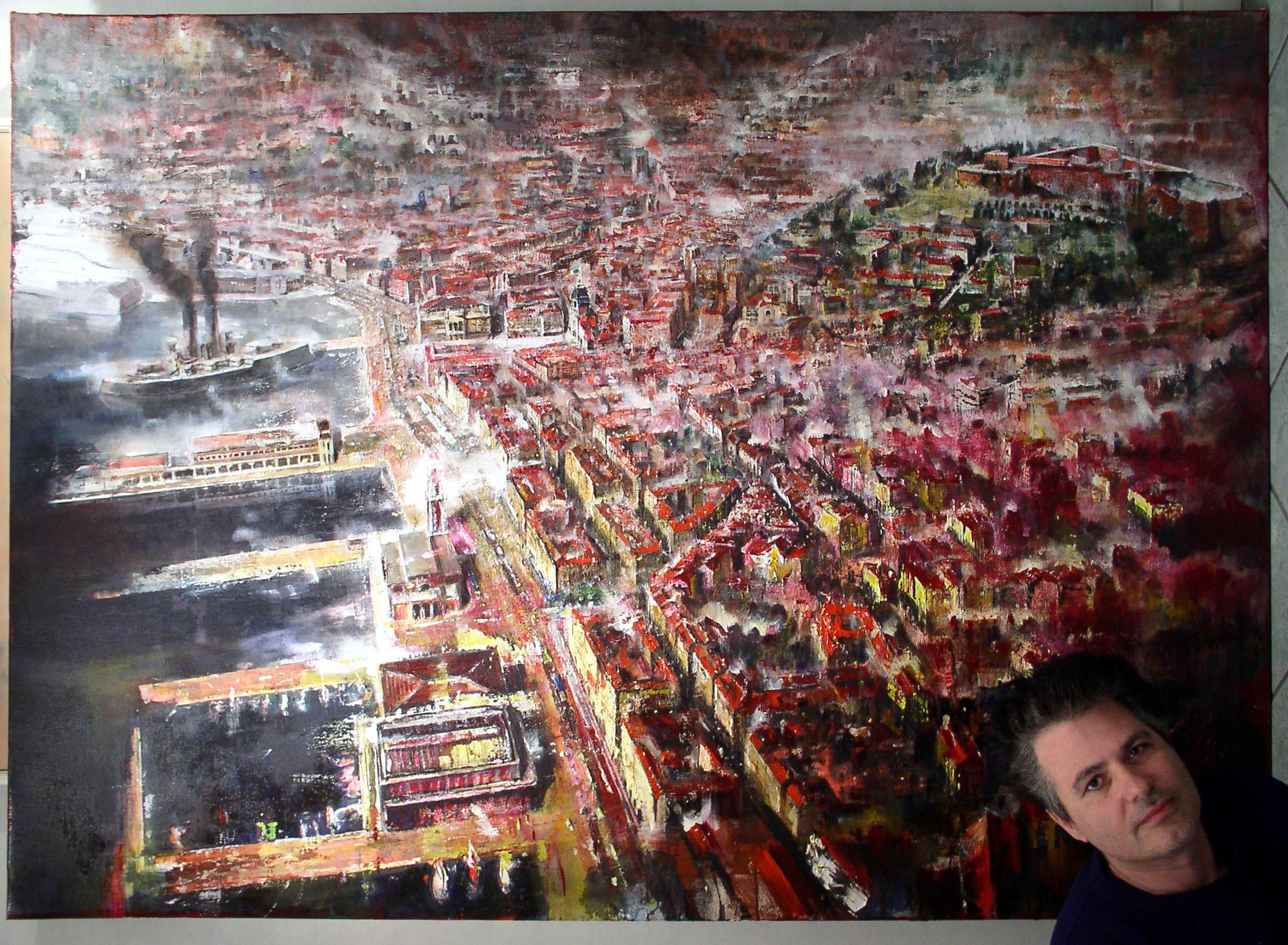 TRIESTE olio su tela 140x200 fr.santosuosso 2007