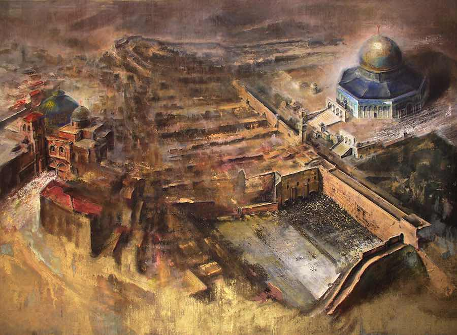 Gerusalemme-le-tre-religioni-monoteiste-santosuosso2003-100x140-
