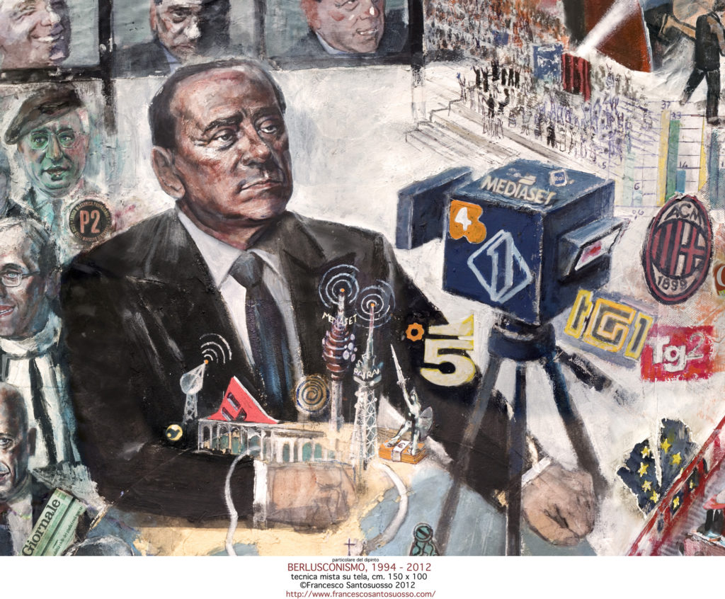 particolare3 -del-dipinto-BERLUSCONISMO-1994-2012.tecnica-mista-su-tela150x100-Francesco-Santosuosso-2012