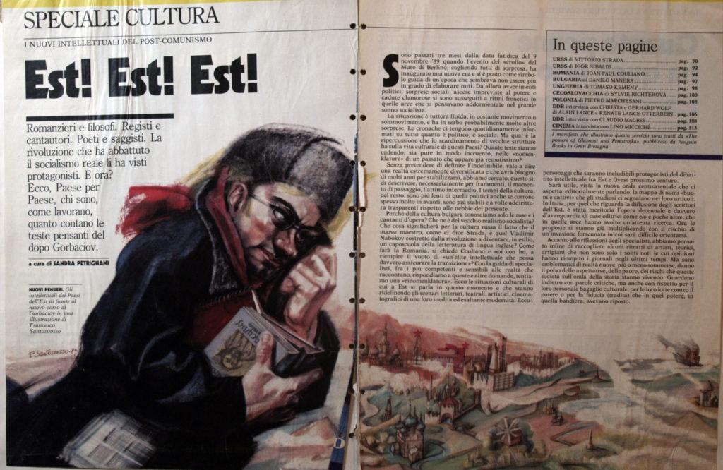 illustrazioni per i media 1987-1992